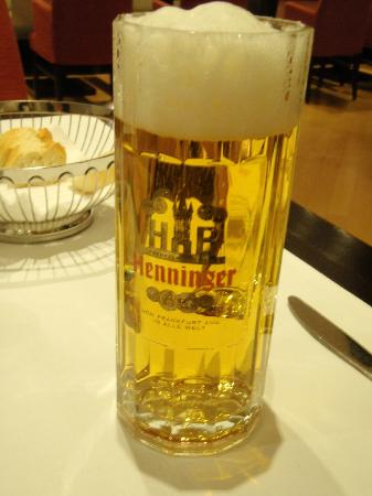 Local beer at the NH Frankfurt Airport Hotel restaurant.  Delicious.