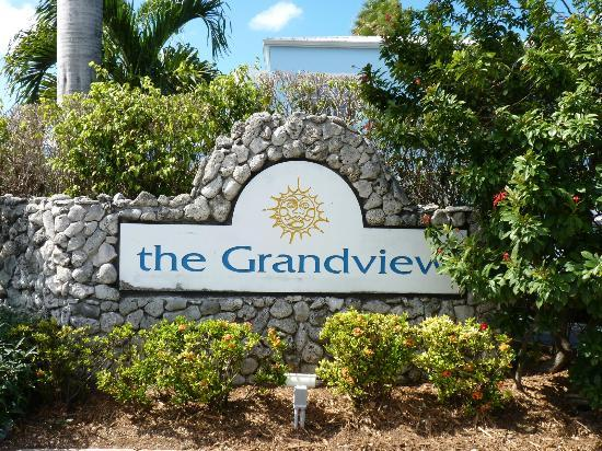 The Grandview Condos Cayman Islands: Grandview sign....