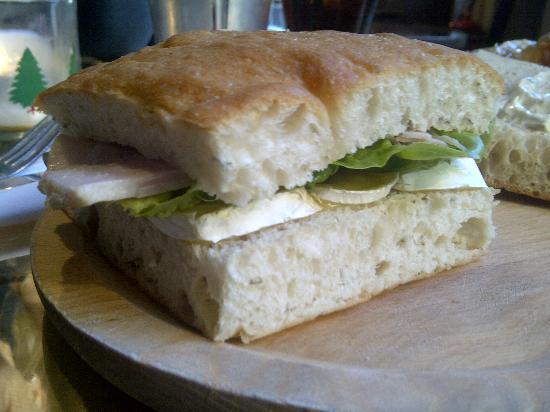 The Britannia: Ham & Somerset Brie sandwich