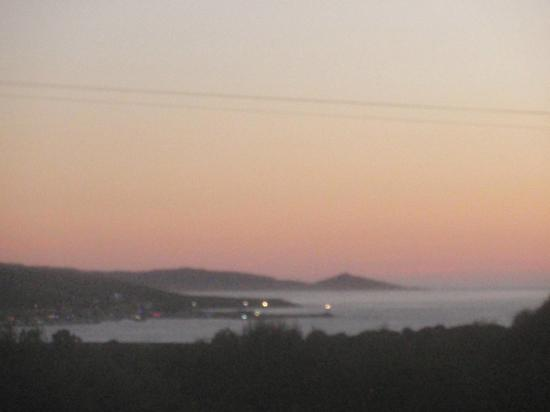 U Pianarellu : De la terrasse vue nocturne sur Propriano