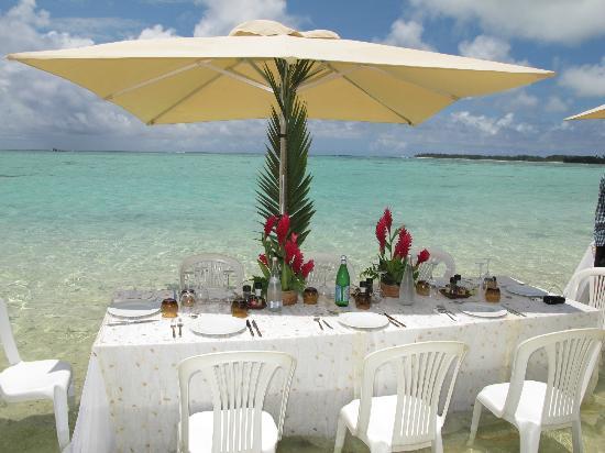 Conrad Bora Bora Nui: Lunch at Motu Tapu - fabulous!