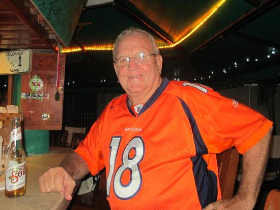 Kelley's Sports Bar and Grill: Kelley, the #1 Bronco fan!