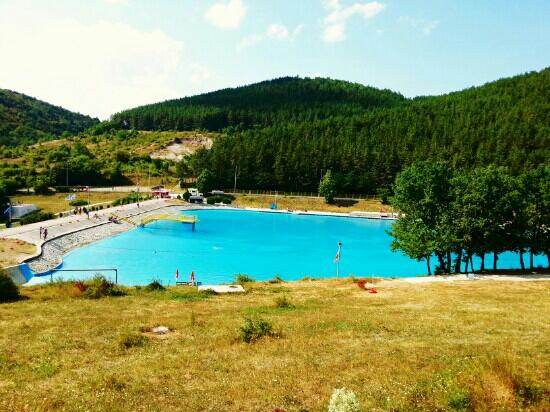 Pristina, Kosovo: Huge swimming pool of Germia.