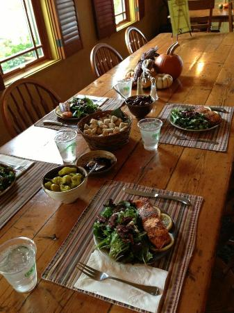 Wine Country Inn & Cottages: A different lunch was salmon--so good!