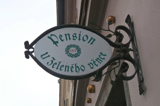 The Green Garland Pension: Over the front door