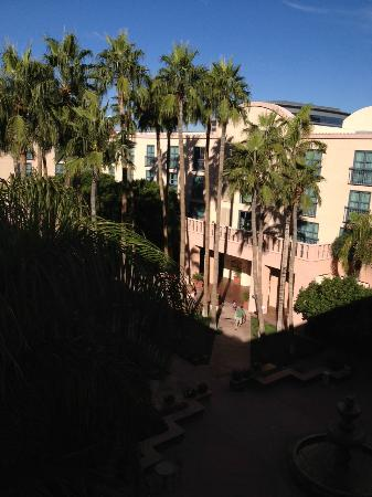 Tempe Mission Palms: view from our 4th floor courtyard facing room