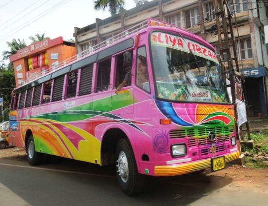 Picture of Artistic painted Bus, Kannur.