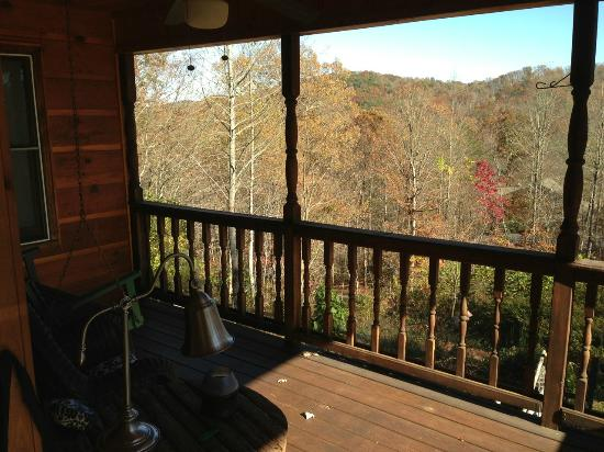 Aska Lodge B&B: from porch in room