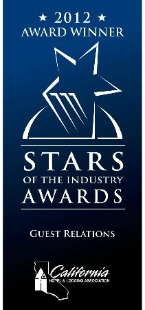 Glorietta Bay Inn: Best Guest Relations in the State of California through CA Hotel & Lodging Association  2012