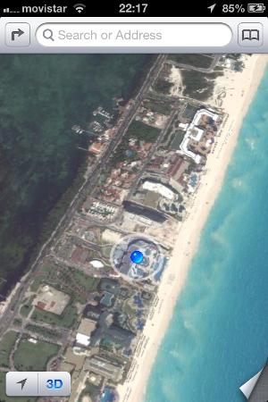 Hard Rock Hotel Cancun: View from above.