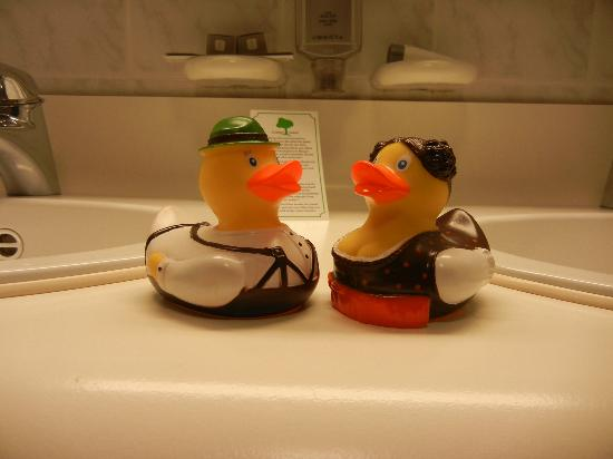 Exquisit Hotel: The rubber duckies were included.  Our kid loved them.