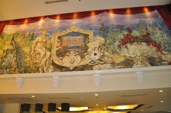 Hotel Elizabeth Cebu: painting at the lobby