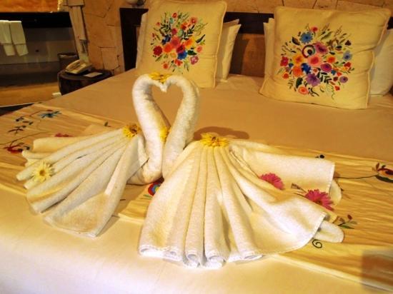 Be Tulum Hotel: letto comodissimo...