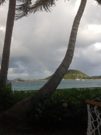 Peter Island Resort and Spa: Another great view. A rainbow after it rained for 2 minutes