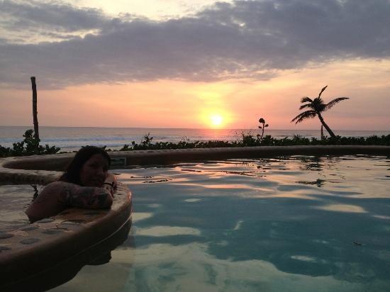 Playa Viva: sunset from the jacuzzi