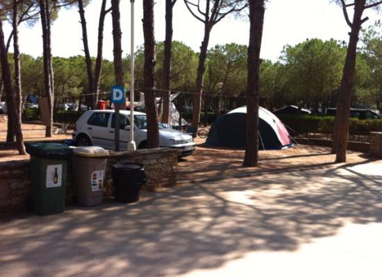 Camping Sandaya Cypsela Resort: detalle parcela