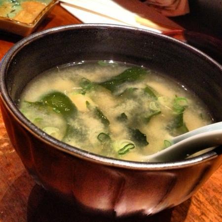 Blue Ribbon Sushi: miso soup