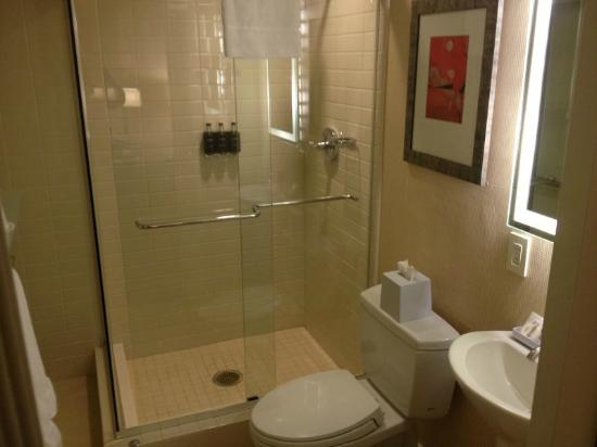 Le Meridien Arlington: The bathroom with those money saving soap dispensers