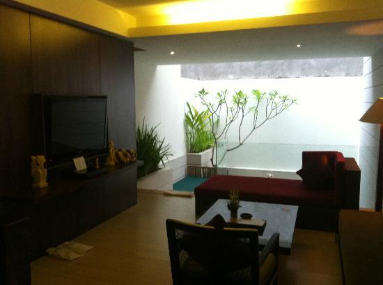 Villa Kayu Raja: Open air living room