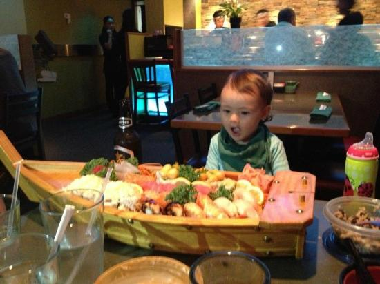 Japanese Restaurant Masamune: Pretty excited about her first boat!