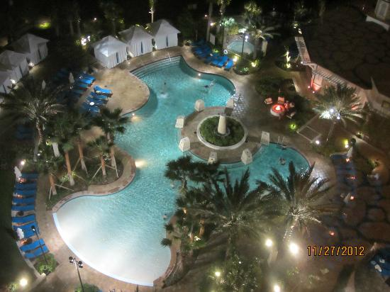 Wyndham Grand Orlando Resort Bonnet Creek: view at night from 12th floor