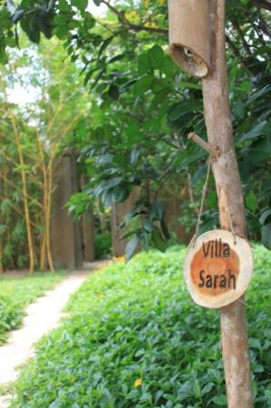L'Alyana Villas Ninh Van Bay: they named our Villa after me - for our stay!