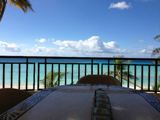 White Sands Beach Condos: 2BR - Patio table