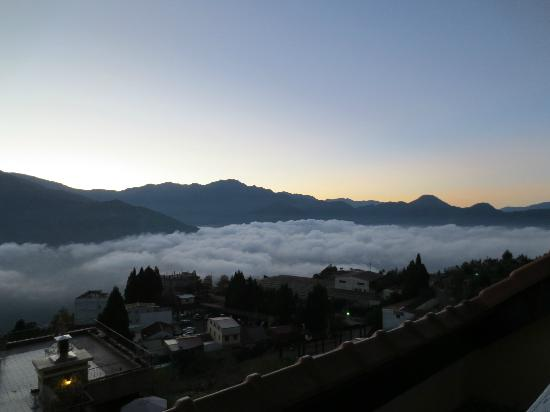 Egmon Situation Resort: View from room balcony - morning sea of cloud