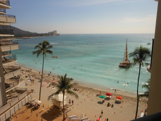 Outrigger Waikiki Beach Resort: View from our room
