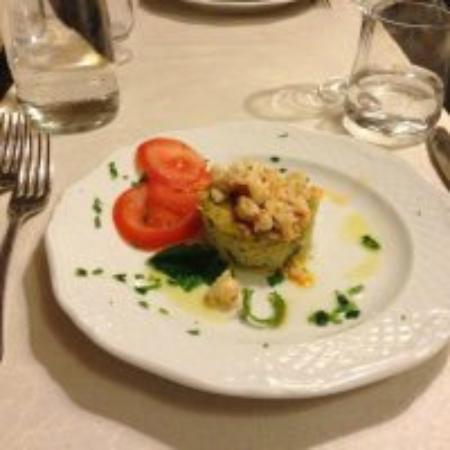 Ristorante Europa: Tortino di pesce: antipasto