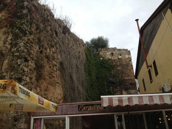 Paradise Restaurant: Old city walls