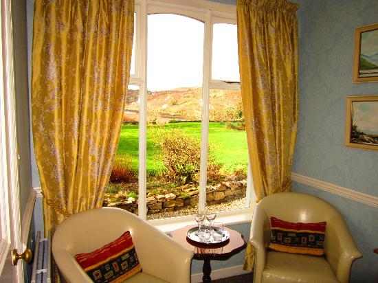 Mallmore Country House: View from bedroom overlooking the garden and ocean