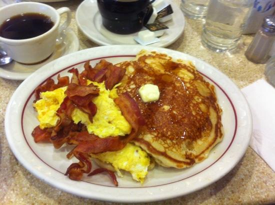 Mmmmm Short Stack Pancakes, Bacon, Scrambled Eggs, and ...