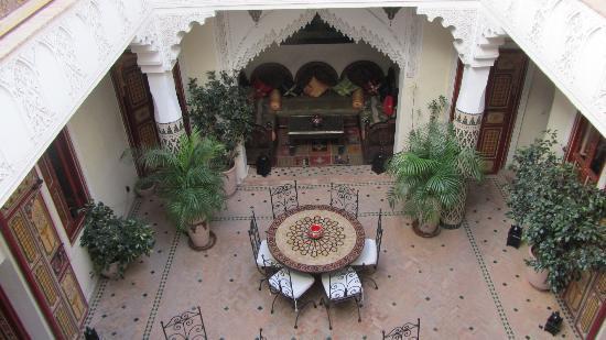Riad Sofia: Vue intérieure depuis l'étage