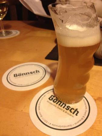 Brauhaus Bonnsch : Bonnsch beer in unique glass