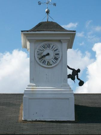 St. Vincent's Guest House: Gargoyle on the Clock Tower