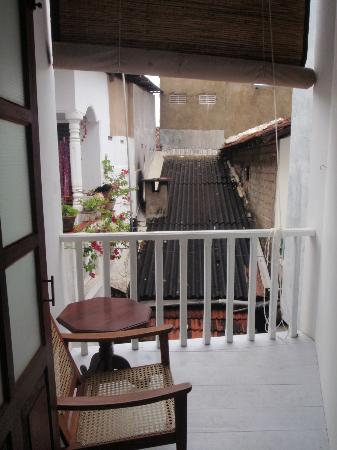 Pedlar62 Guest House: view from small balcony of back room