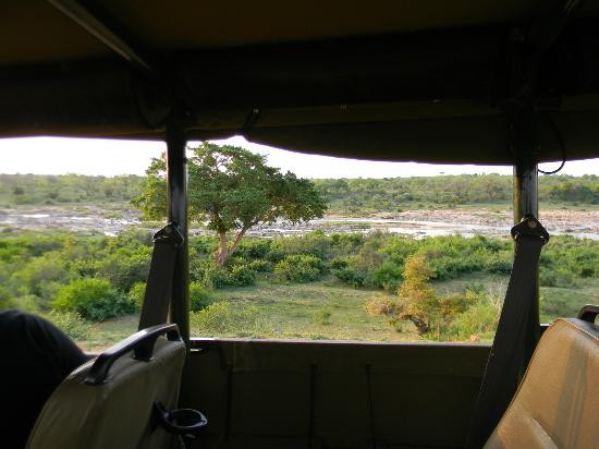 Mjejane River Lodge: game drive along river-see big 5 plus more