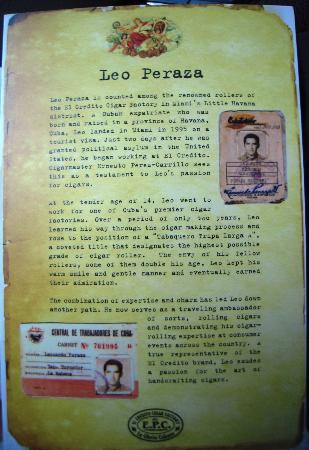El Credito Cigar Factory: Leo Peraza