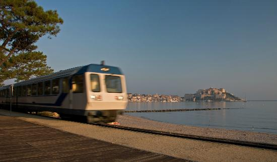 Camping La Pinede: Train to Ile-Rousse