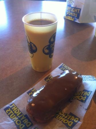 Donuts Plus: maple bar and coffee - delish!!!!