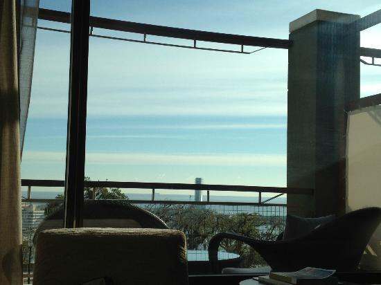 Hotel Miramar Barcelona: Vue sur mer + terrasse
