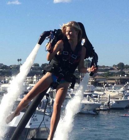 Jetpack Cayman: She's loving it