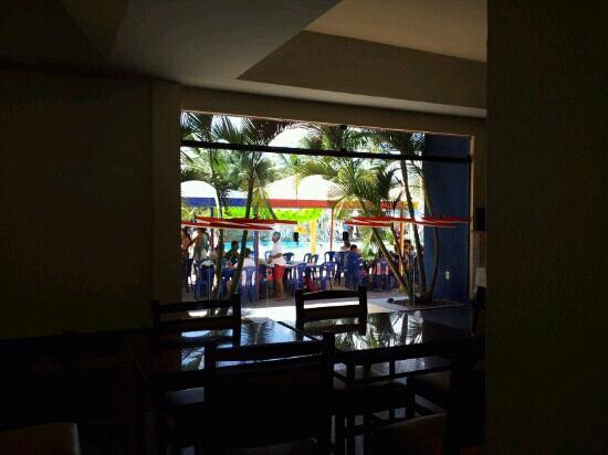 Jacobina, BA: vista do restaurante ao parque aquático.