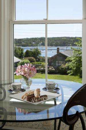 Clark Point Inn: a glimpse of the harbor Water View from the 'Benjamin Jacob Guestroom'