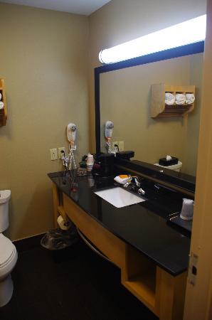 La Quinta Inn & Suites Starkville at MSU : King Room Bathroom Setup (rm 104)