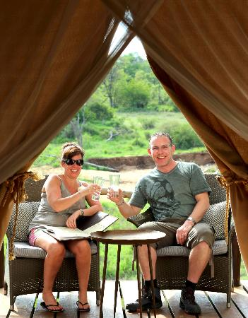 Garonga Safari Camp: G&T on our veranda