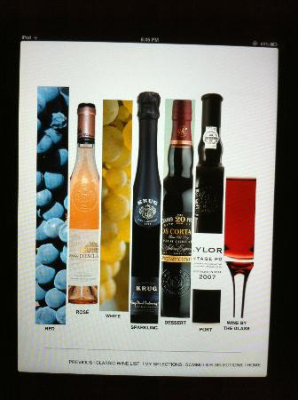 Trump Turnberry, A Luxury Collection Resort, Scotland: The funky Turnberry wine list presented on an iPad