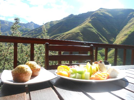 Maliba Mountain Lodge: Breakfast with a view