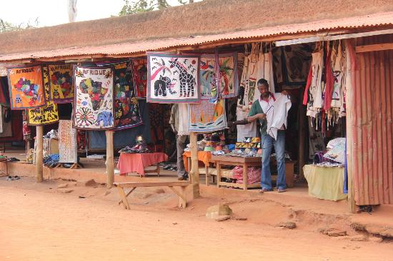 Royal Palaces of Abomey: Craft Market outer courtyard